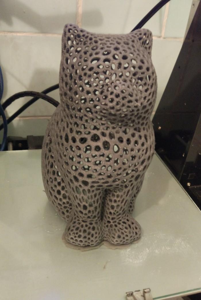 Говорят, тут любят котиков :) Кот, 3D печать, 3D принтер
