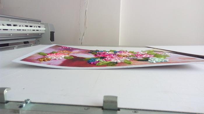 Вышивка лентами. Процесс оформления. Вышивка лентами, Хобби, Багет, Багетная мастерская, Рукоделие с процессом, Длиннопост