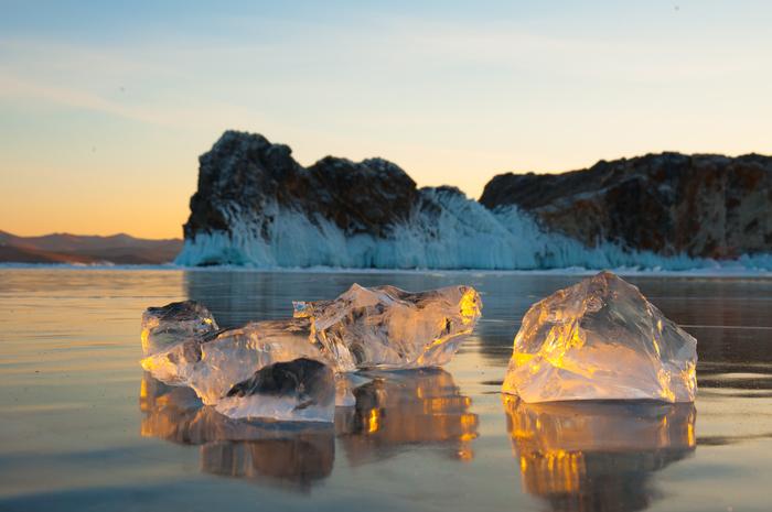 Рассвет и закат Байкал, Ольхон, Nikon, Озеро, Рассвет, Закат, Лёд, Фотография