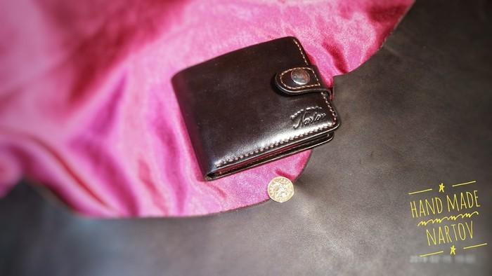 Простой кошелек Ручная работа, Handcraft, Кожаный кошелек