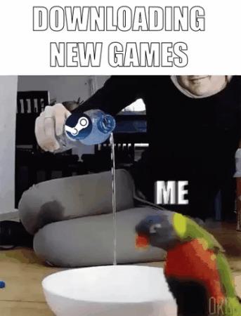 Загрузка новых игр. Я: Гифка, Steam, Игры, Reddit