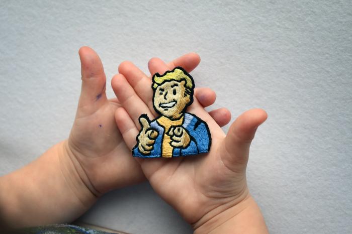 Нашивка Fallout Vault Boy Вышивка, Своими руками, Нашивка, Дети, Fallout, Vault Boy, Волт-Бой