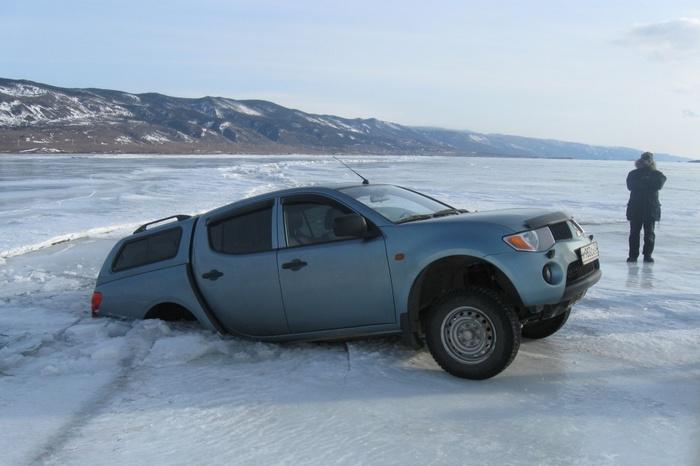 Вы ездите по тонкому льду Байкал, Провалился под лёд, Утопленник, Авто, Длиннопост