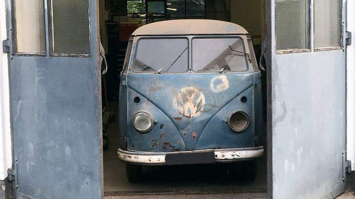 В гараже нашли бусик Volkswagen c необычной историей Volkswagen, Volkswagen T1, Длиннопост, Превышение скорости, Радар