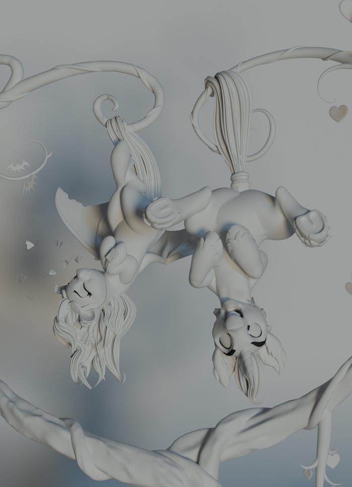 Два понька Original Character, My Little Pony, Blender, Длиннопост