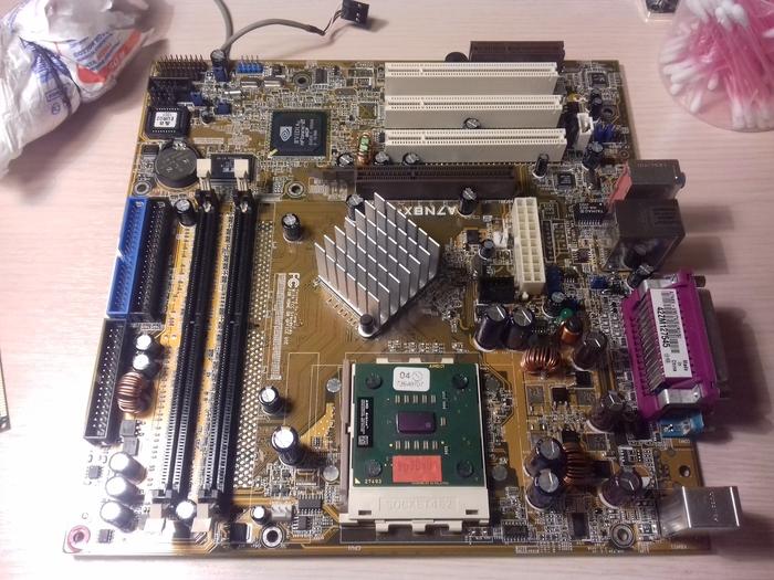 Неторопливое восстановление старого компа на Socket A (462) Восстановление компьютера, Компьютер, Athlon, Socket 462, Ламповость, Длиннопост