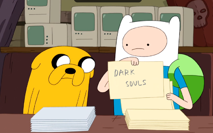 When your friend asked you to explain the meme Мемы, Adventure Time, Dark Souls