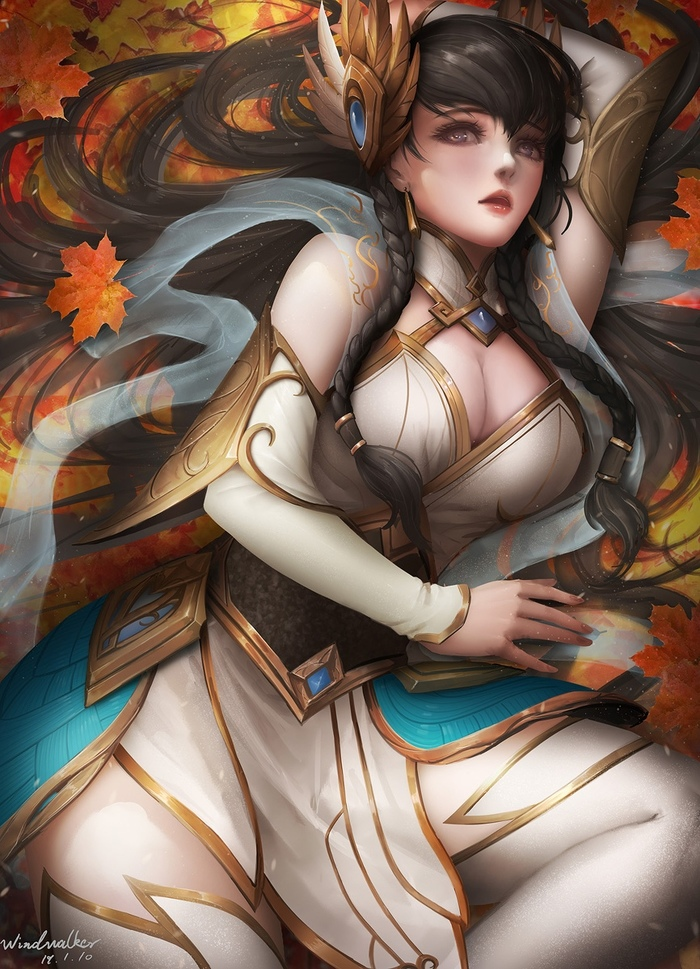 Irelia Art Арт, Windwalker, League of Legends, Irelia, Девушки