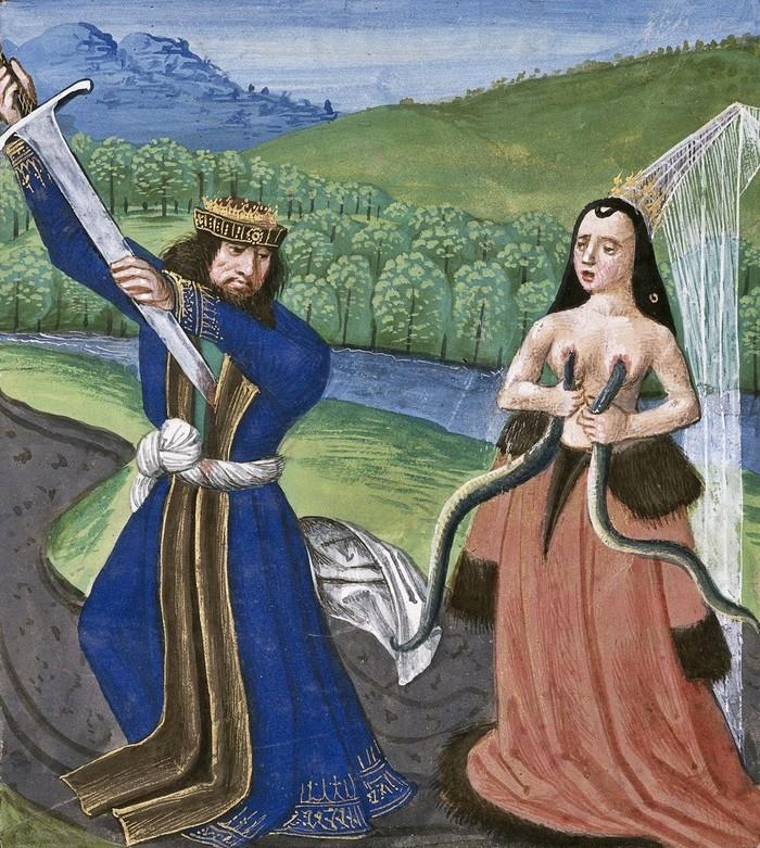 Смерть Антония и Клеопатры XV век