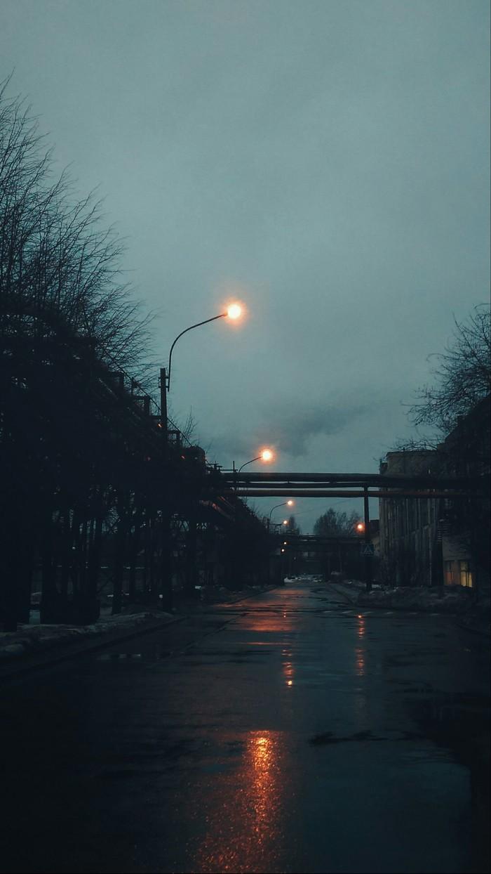 Пасмурное утро Фотография, Начинающий фотограф, Свет, Дорога, Пасмурно, Утро, Мрак