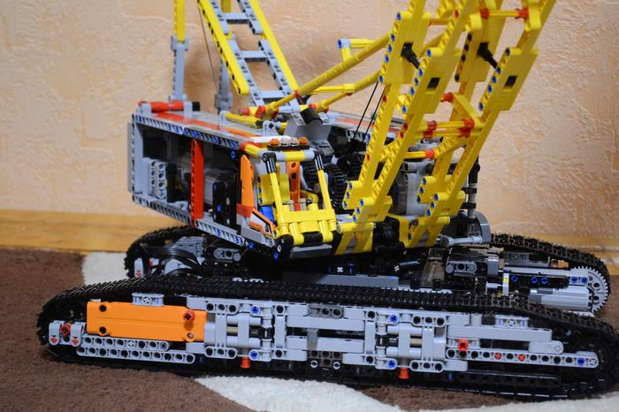 LEGO самоделка по мотивам ДЭК-401 LEGO technic, Гусеничный кран, LEGO самоделки, Длиннопост