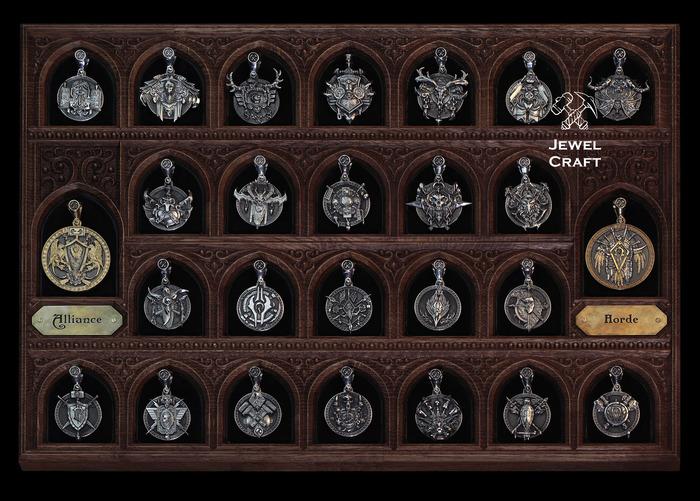WOW медали Jewelcraft, Крафт, WOW, Blizzard, Warcraft, Стенд, Медали, Соседи, Длиннопост