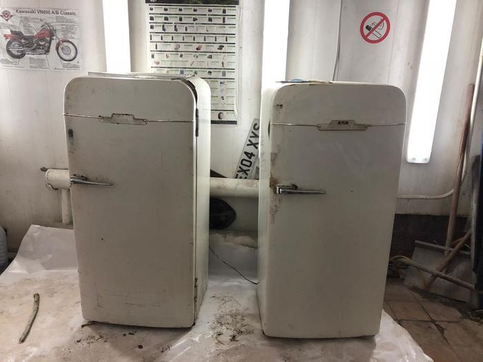 Холодильник ЗИЛ Реставрация, Ретро, Лофт, Дизайн интерьера, КуÑня, Длиннопост, Холодильник
