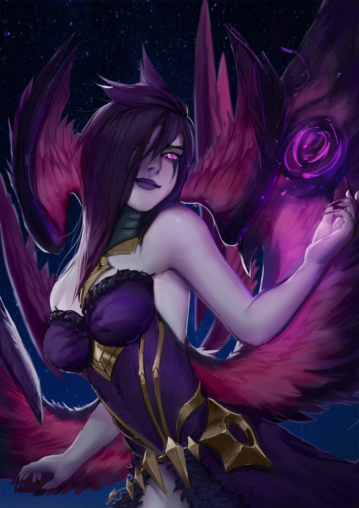 Morgana Art Арт, Ayzhart, League of Legends, Моргана, Девушки