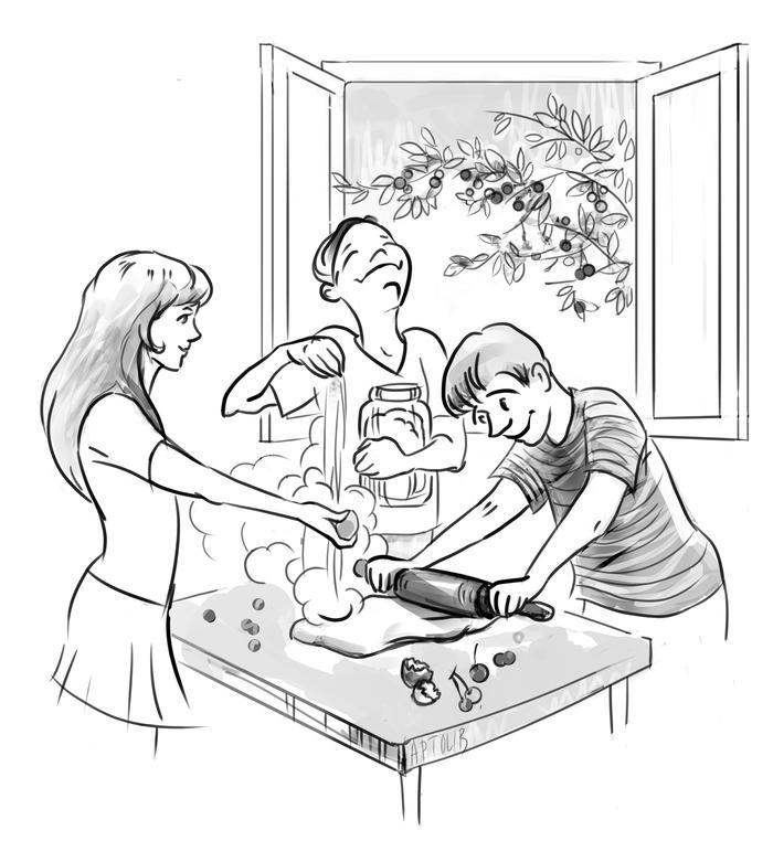 Поспели вишни в саду у дяди Вани Гарнизон, Гарнизонные истории, Гарнизонное детство, История из детства, Истории о детстве, Детство, Длиннопост