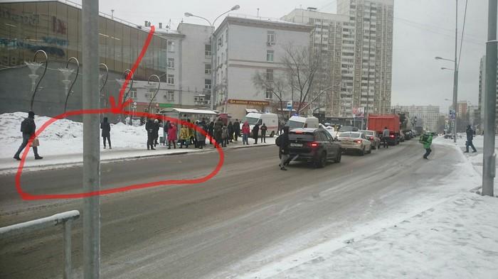Будьте осторожны! В Москве гололедица! Москва, Гололёд, Полежаевская