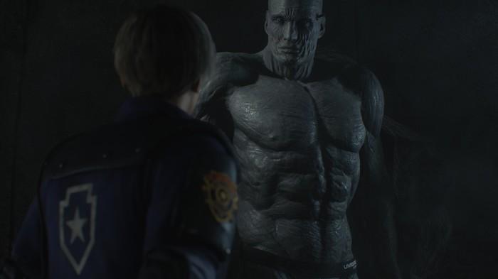 Мод для Resident Evil 2 раздевает Тирана [лёгкая эротика] Resident Evil 2: Remake, Тиран, Плавки, Очки, Сланцы, Мод, Длиннопост