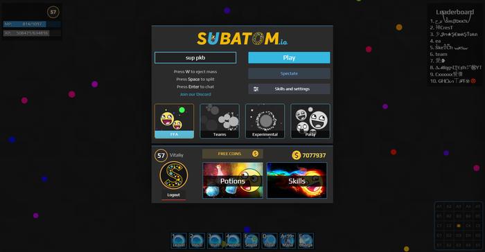 Subatom.io - мое видение идеальной браузерной игры Компьютерные игры, Gamedev, Игры, Длиннопост