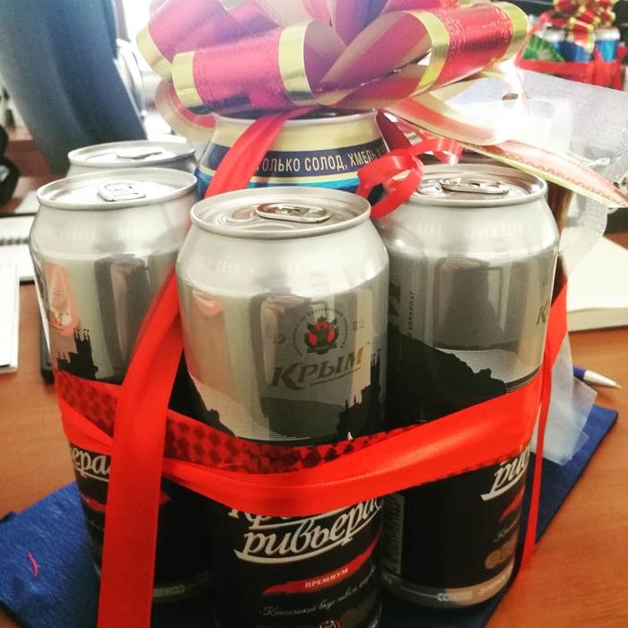 Рабочий подарок на 23-е)) хоть раз угадали))) 23 февраля, Необычные подарки, Пиво, Закуска к пиву, Длиннопост
