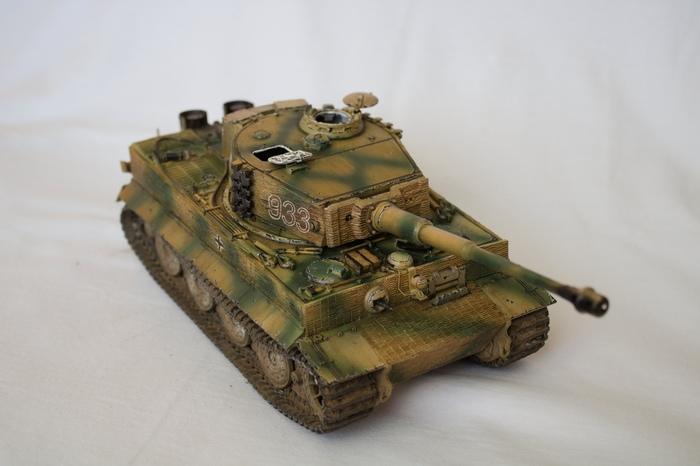 Pz.Kpfw. Tiger Ausf E. в масштабе 1/35 от фирмы Dragon. Танки, Тигр, Вторая мировая война, Модель, Длиннопост, Своими руками