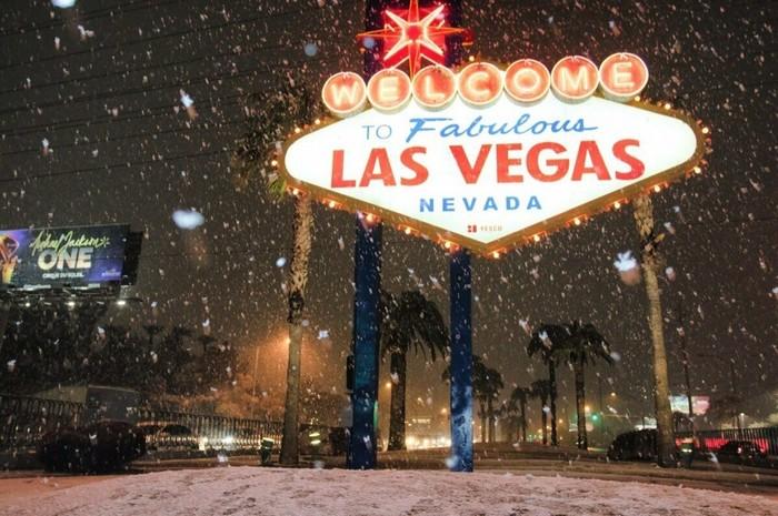 Впервые за 10 лет на Лас-Вегас обрушился снегопад Природа, Катаклизм, Снегопад, США, Америка, Лас-Вегас, Длиннопост