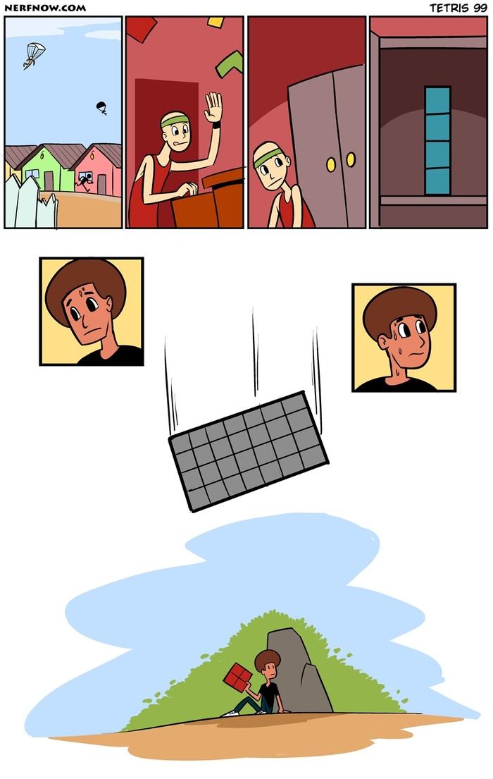 Tetris 99 Комиксы, Nerfnow, Tetris 99, Тетрис, Battle Royale, Игры
