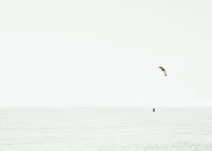 Зимний кайтинг Nikon, Sigma, Монохром