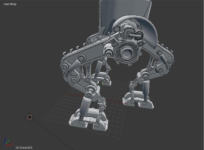Робот Blender, 3D, Моделизм, 3D моделирование, Длиннопост
