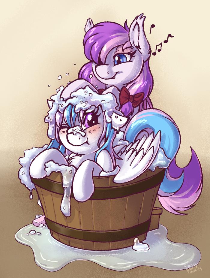 Глупое поне в бане My Little Pony, Original Character, Sugaryviolet