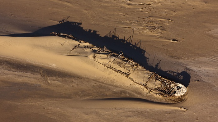 Берег скелетов - Кладбище кораблей Африка, Намибия, Достопримечательности, Кораблекрушение, Корабль, Берег, Видео, Длиннопост