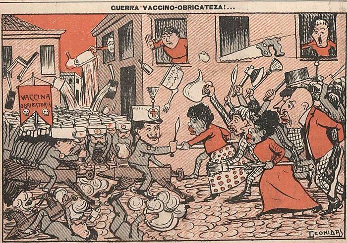 Бразилия вопрос вакцинации стоял остро в 1904 году