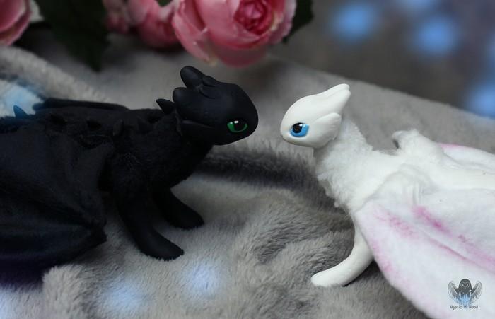 Love Story: Night fury & Light fury Как приручить дракона, Любовь, Спойлер, Рукоделие без процесса, Ручная работа, Дракон, Длиннопост