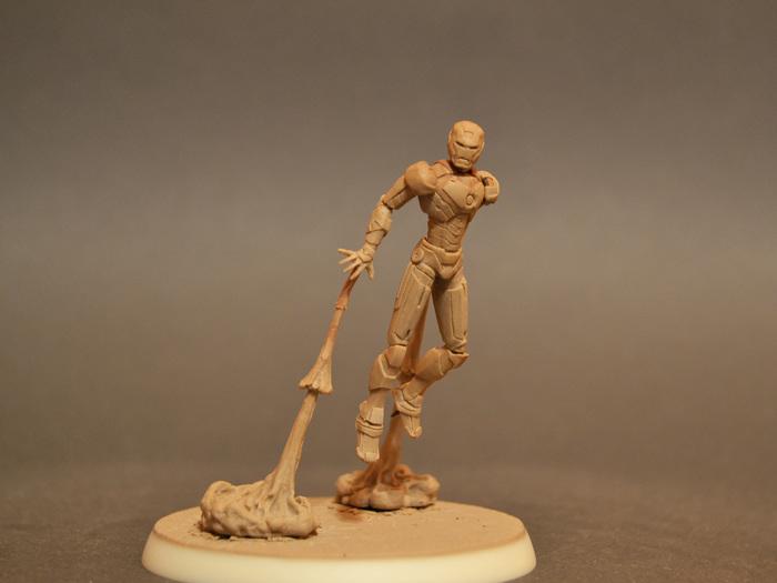 """Миниатюра """"полимерный человек"""" Скульптура, Миниатюра, Полимерная глина, Железный человек, Mysculptwork, Длиннопост"""