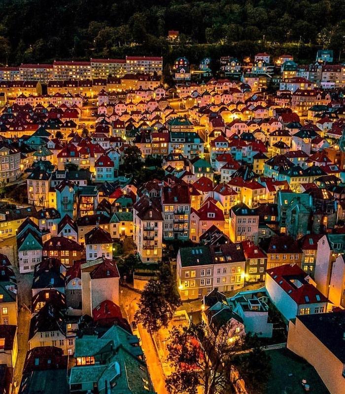 Вечерний Берген. Норвегия