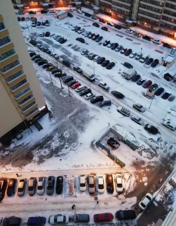 Как я решил для себя проблему с парковкой во дворе и экономлю по 30 минут в день Парковка, Вечер, Двор, Машина, Камера, Вебкамера, Длиннопост