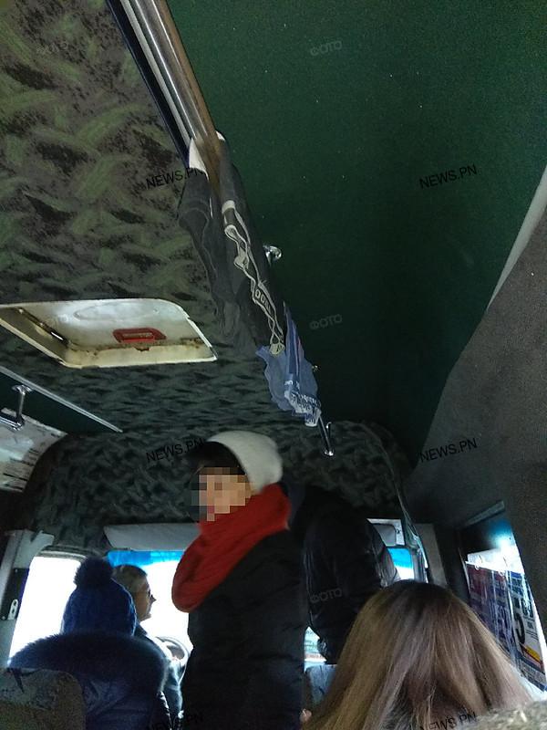 В Николаеве водитель водил маршрутку с трусами в салоне Николаев, Маршрутка, Трусы