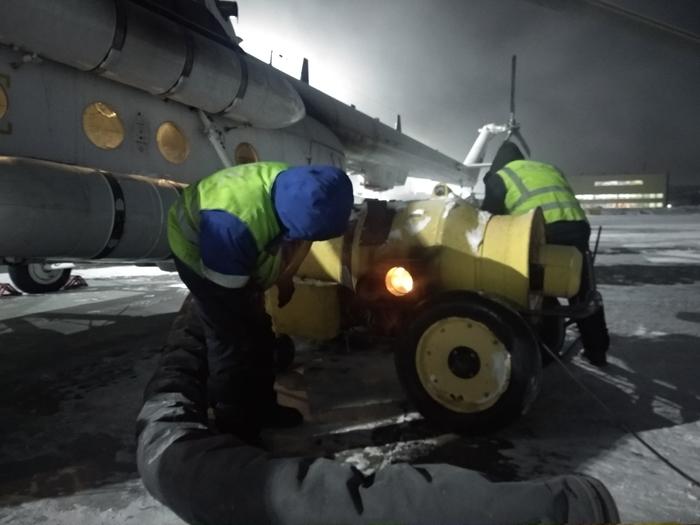 Рабочий день авиатехника Авиация, Мороз, Работа, Длиннопост, Вертолет