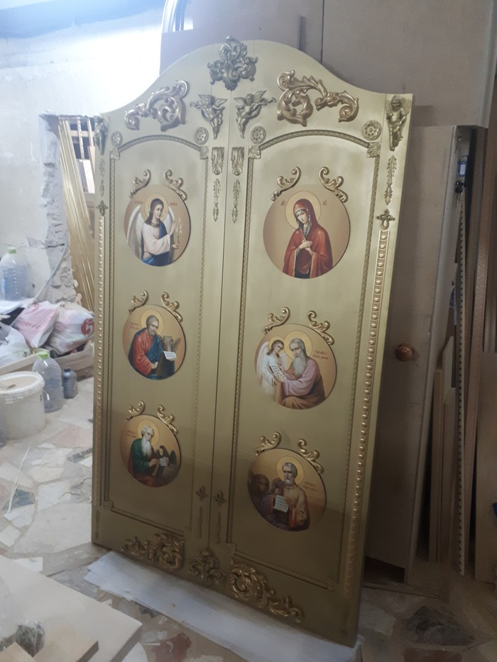 Царские врата (вход в алтарь) изготовил в качестве благотворительности в церковь Входная группа, Работа с деревом, Церковь, Резьба, Благотворительность, Длиннопост