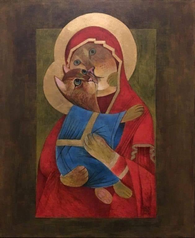 Котовера Котовера, Икона, Религия, Церковь, Кот