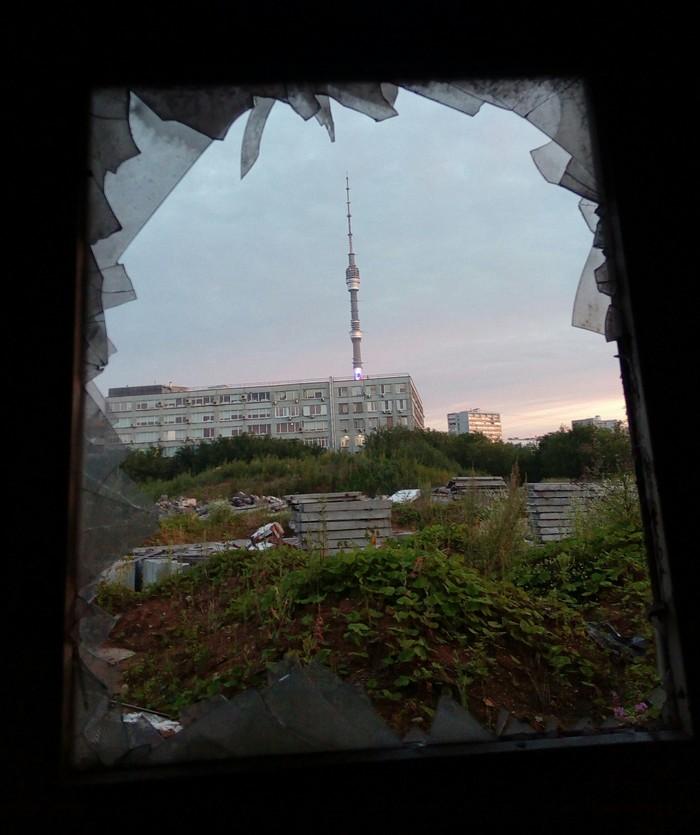 А из нашего окна... Заброшенное место, Останкинская башня, Граффити, Длиннопост