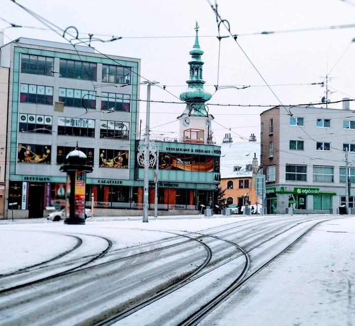 Зима в Братиславе. Зима, Словакия, Климат, Братислава, Длиннопост