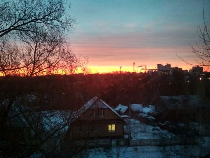 Утро над Витебском Ночь, Восход, Витебск, Беларусь, Зима, Прекрасное, 2019