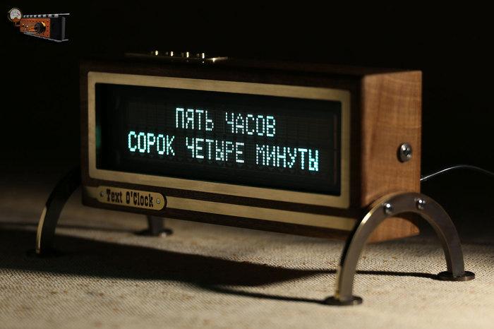 Настольные часы «Text O'Clock» Часы, Ретро, Текстовые часы, Длиннопост, Самоделки