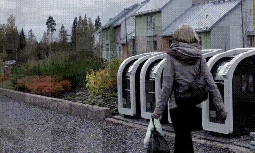Мусорные баки в Финляндии.