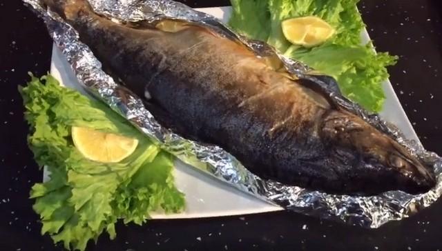 Сочная горбуша, запеченная в духовке целиком в фольге Рецепт, Рыба, Приготовление, В духовке, Видео, Длиннопост