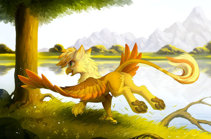 Грифон Фурри, Furry Art, Hioshiru, Грифон, My Little Pony, Original Character