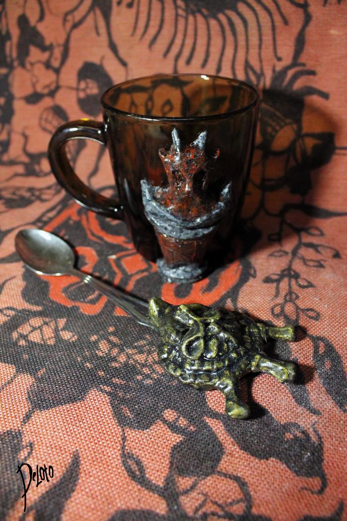 """Кружка """"Дом Дагот"""" (по мотивамTES III: Morrowind) The Elder Scrolls, Morrowind, Полимерная глина, Игры, Дом дагот, Древние свитки, Морра, Deloto, Длиннопост"""