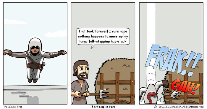 Прыжок веры. Assassins Creed, Компьютерные игры, Прыжок веры, Перевел сам, Комиксы