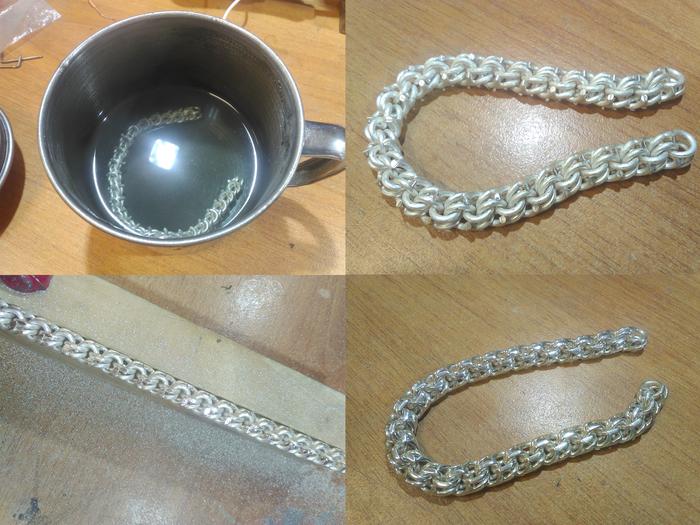 Браслет бисмарк своими руками серебро