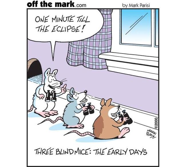 Три слепые мыши: начало Offthemark, Мышь, Затмение, Комиксы